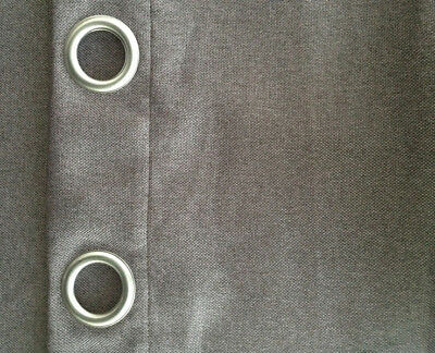 blockout 3layers pure fabric Luxury  LINEN LOOK eyelet curtain  58258