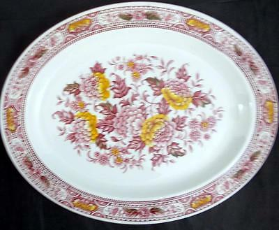 Ridgway CANTERBURY RED MULTICOLOR Platter 4269 GREAT CONDITION