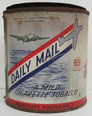 Daily Mail 65 Cent Tobacco Cardboard and Tin Container