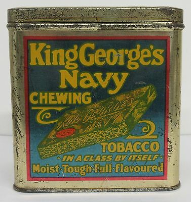 King George's Navy Chewing Tobacco Tin