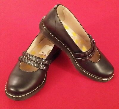 Dr.Martens Olivia Sz 6 Womens Black Leather Studded Mary Jane Work Casual Shoes