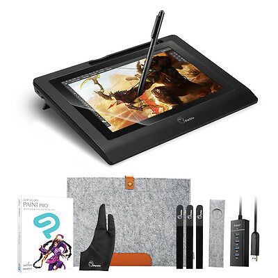 """Parblo Coast10  Art Design 10.1"""" Drawing Graphics Tablet Monitor+ Rich Gift"""