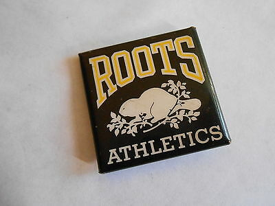 Cool Vintage Roots Athletics Canadian Apparel Co Beaver Advertising Pinback