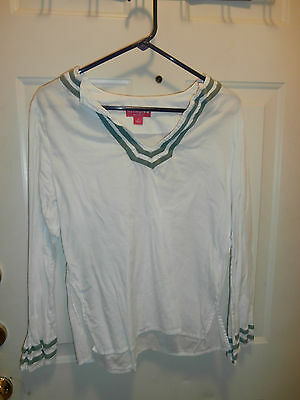 Liz Lange Maternity Top Blouse Ladies Size Large (S) White