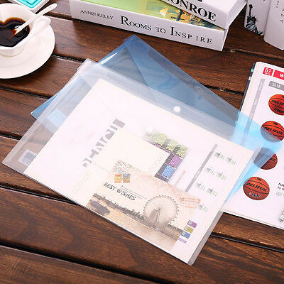 2x A4 PVC Bag Document Paper School Office Supplies File Folder Bags Stationery