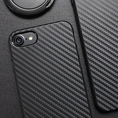 Luxury Carbon Fiber Soft TPU Silicone Thin Case Cover for Apple iPhone 7 6S Plus