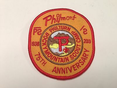 Philmont Scout Ranch 75th Anniversary Oval Philturn Patch, Cimarron, New Mexico