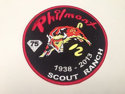 BSA Patch, Philmont Scout Ranch 75th Anniversary Jacket P, Cimarron, New Mexico