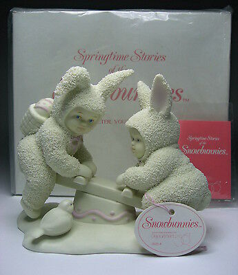 "Dept 56 Snowbunnies ""I'm Teeter You're Totter"" 1995-1998 (26204 ~ Retired)"
