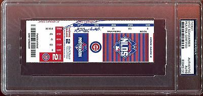 Kyle Schwarber Signed 2015 NLDS Game 4 Ticket Schwarbomb! PSA DNA Autograph Auto
