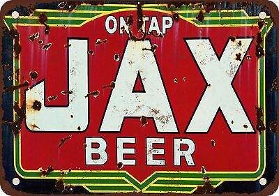 """Jax Beer on Tap 10"""" x 7"""" Reproduction Metal Sign"""