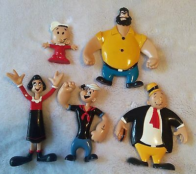 Popeye Bendable Toy Figures NJ Croce Vintage