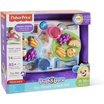 NEW Fisher-Price Laugh & Learn Say Please Snack Set