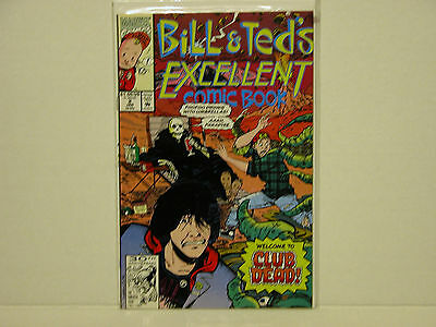 Bill And Ted's Excellent Comic Book - Rare- Marvel - Free Shipping