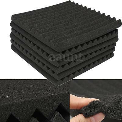 12Packs Soundproofing Acoustic Studio Wedge Foam Tiles Wall Panels 12'' x 12''