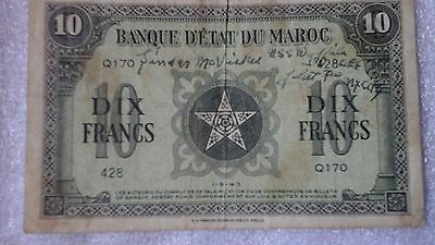 Wwii French Banknote