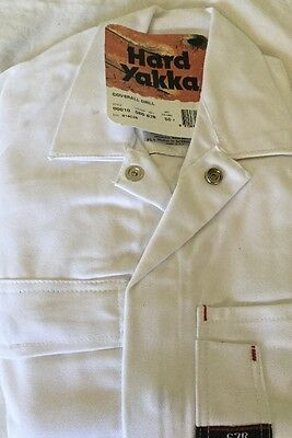 Hard Yakka Mens Overalls Size 67R White. All Cotton Brand New