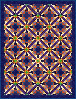 """COSMIC BABY - 86"""" x 66.5"""" - Quilt-Addicts Precut Quilt Kit King Single size"""