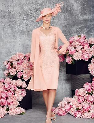 New Blush Mother Of The Bride/Groom Outfits With Jacket Knee Length Formal Dress