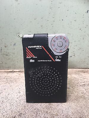 Vintage Collectable Hanimex HSR 1035 Transistor/ Portable Radio In Original Case