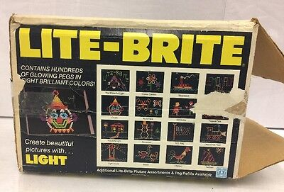 VINTAGE 1981 LITE-BRITE IN Box. Tested And Works.
