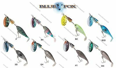 Blue Fox Vibrax Double Header Fishing Spinners. DIFFERENT COLORS/ two size VSB