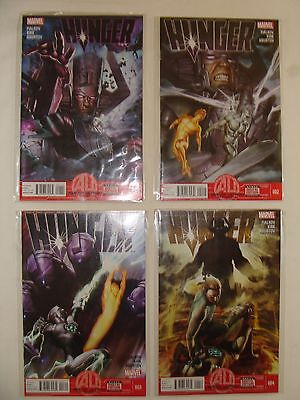 Lot Of 4 Hunger 1 2 3 4 - Silver Surfer, Galactus - W/ Digital Codes - Nm
