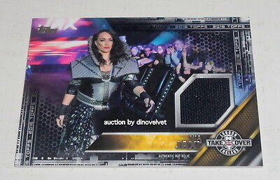 Wwe 2K17 Topps Nia Jax Card Authentic Ring Canvas London Nxt Takeover Relic Mat