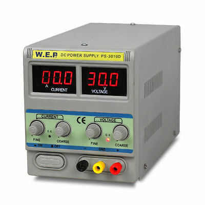 10A 0-30V Adjustable DC Power Supply Precision Variable LED Digital Display