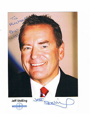 Jeff Stelling  -  Official Countdown Photograph Hand Signed