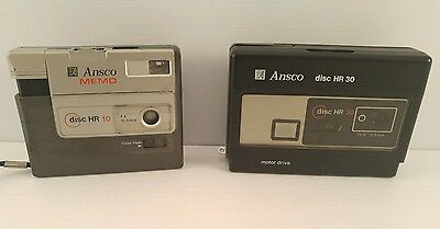 Vintage Ansco Disc Cameras Lot Of (2) HR10 HR30 - Free Shipping