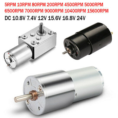 Micro Magnetic Motor Electric Gearbox Shaft 2 Terminals Connector High Speed UK