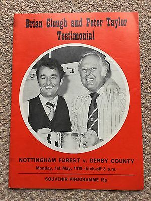 Brian Clough & Peter Taylor Testimonial Nottingham Forest v Derby County 1978