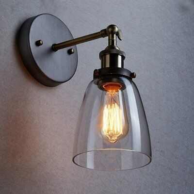 Vintage Rustic Sconce Brass Indoor Glass Wall Lamp Wall Light classical Lamp