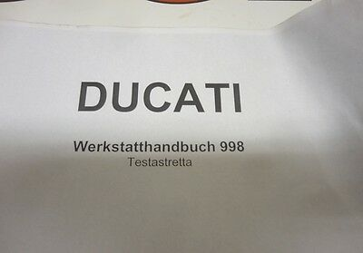 Ducati Testastretta 998 91470381B Factory Workshop Manual Copy German French