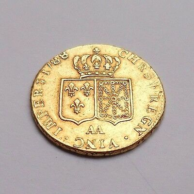 Royale en or - RARE et SUPERBE Double Louis d'or Louis XVI 1788 AA