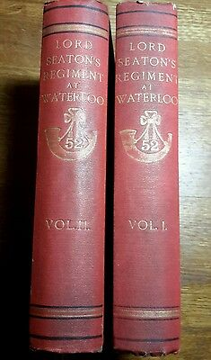 Lord Seaton's Regiment at Waterloo 1866 edition Hatchard & Co two volumes