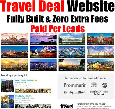 Travel Website - Fully Built - Pay Per Lead - Home Online Internet Business