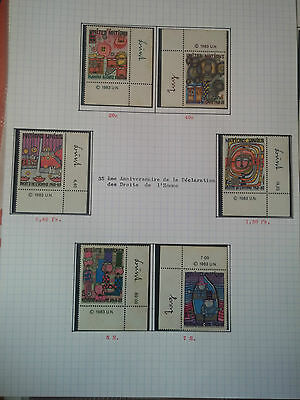 G194. Nations Unies Timbres Neufs** Stamps United Nations Mnh. Series Divers