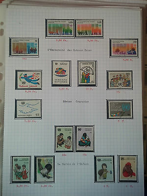 G197. Nations Unies Timbres Neufs** Stamps United Nations Mnh. Divers Series