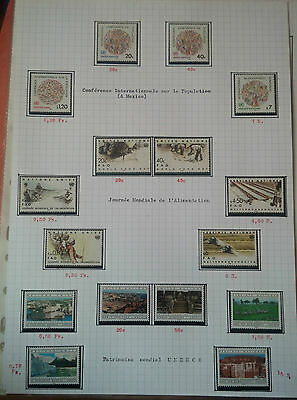 G193. Nations Unies Timbres Neufs** Stamps United Nations Mnh. Series Divers