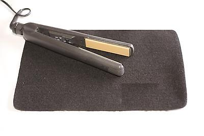 Mateque Black Flat Hair Straighteners Heat Proof Mat For use with GHD & Others