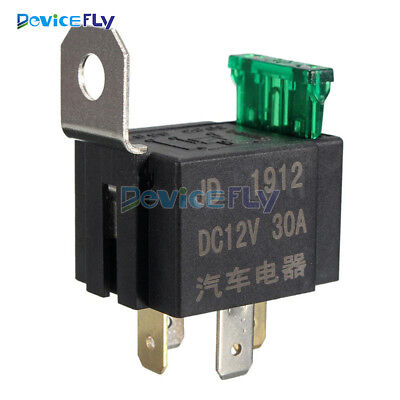 Fused DC On/Off Car Motor Automotive Fused Relay DC 12V 30A 4 Pin 4P SPST Metal