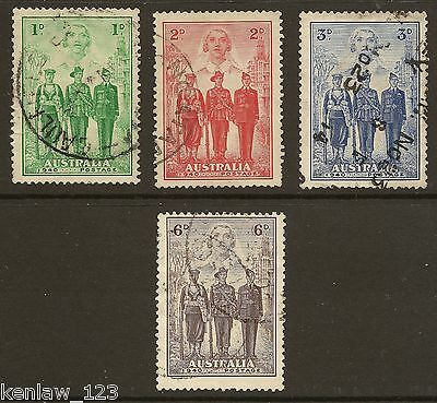 Australia 1940  Australian Imperial Forces. Set of 3, Used  Cat £40