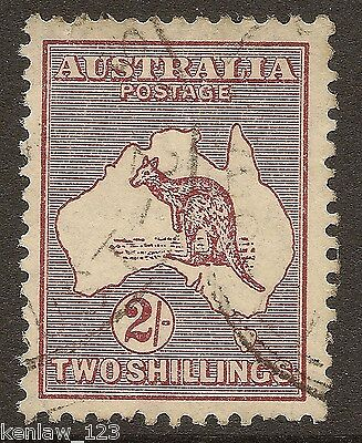 Australia 1945  Kangaroo & Map Definitives. 2/- val re-engraved. SG 212.Used[2]