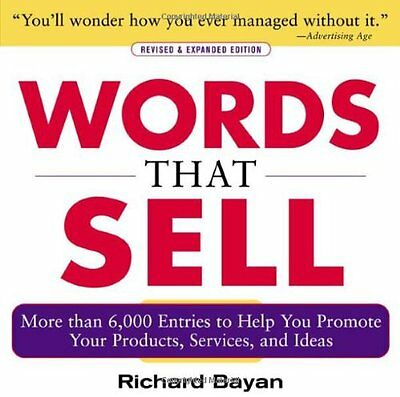 Words that Sell Revised and Expanded Edition,PB,Richard Bayan - NEW