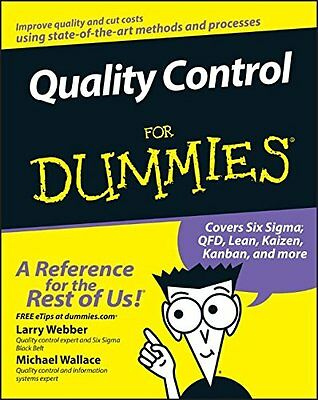 Quality Control For Dummies,PB,Larry Webber - NEW