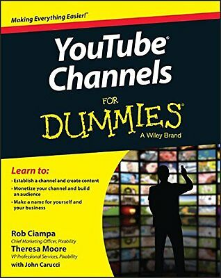 YouTube Channels For Dummies,PB- NEW
