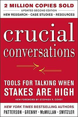 Crucial Conversations Tools for Talking When Stakes Are High Second Edition,PB,