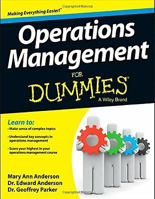 Operations Management For Dummies,PB,Geoffrey Parker, Edward Anderson, Mary Ann
